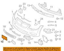 BMW OEM Front Bumper Grille Grill-License Bracket Mount Panel 51137200711