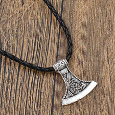 Lucifer Thor's Hammer Tibet Pendant Necklace Leather Chain Jewelry Lovely Gift