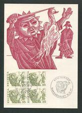 SCHWEIZ MK 1977 VOLKSBRÄUCHE GANSABHAUET SURSEE CARTE MAXIMUM CARD MC CM d7838