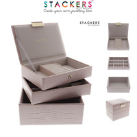 Stackers MINI Size Jewellery Boxes PINK CROC Make Your Own Set FREE DELIVERY