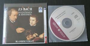 CD BACH / INVENTIONEN & SINFONIEN / BLANDINE VERLET CLAVECIN / AUVIDIS 1997