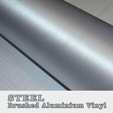 250x152cm Silver Steel Brushed Aluminium Vinyl Vehicle Wrap Adhesive Bubble Free