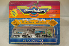 VINTAGE MICRO MACHINES FOOD SERVICE #6 GALOOB TOY ON CARD 6407 1989 MILK TANKER