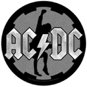 ACDC ANGUS BACK PATCH SEW ON MADE IN ENGLAND UNDER LICENSE SCREEN PRINTED