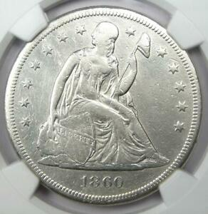 1860-O Seated Liberty Silver Dollar $1 - Certified NGC VF Detail - Rare Coin!