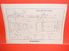 1964 MERCEDES BENZ 220 b Sb SEb 190 SL 219 220 S SE CA Cpa FRAME DIMENSION CHART