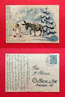 Glückwunsch Künstler AK von G. Radtke 1946 Weihnachten Engel mit Esel   ( 55521