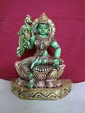 Hindu Temple Meenakshi Amman Devi Statue Vintage Avatar of Parvati Sculpture Rar