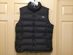 The North Face Nuptse Black Goose 700 Down Zip Front Vest - Women's Size XL