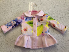 TED BAKER GIRL 3-6 JACKET LINED BOWS ROSE GOLD BUTTONS ADORABLE 💗