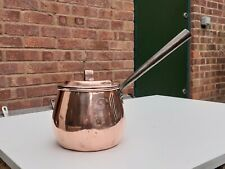 More details for antique victorian benham & froud copper sauce pan with lid