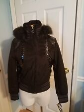 baby phat ultra suede bomber s