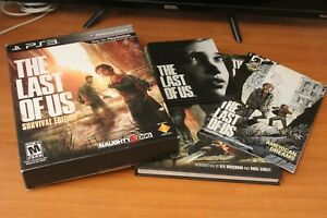 The Last of Us -- Survival Edition PS3 Box and Full Size Artbook NO GAME DISC