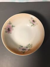 """Vintage Ceramic 8.5"""" Decorated Serving Bowl Made in Germany"""