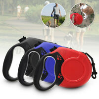 26ft/8M Retractable Pet Dog Lead Leash Strong Flexible Extendable Lock Max  ~