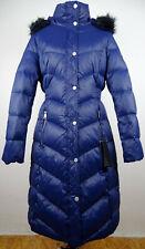 KARL LAGERFELD Down Coat Daunen Mantel Designer Damen Parka Navy Gr.L NEU+ETIKET
