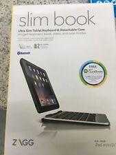 ZAGG Ultra-Slim Book Wireless Bluetooth Keyboard Detachable Case iPad Mini 1 2 3