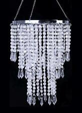 Faux Crystal Ceiling Chandelier With Sparkling Iridescent Beaded Chandeliers 8.6
