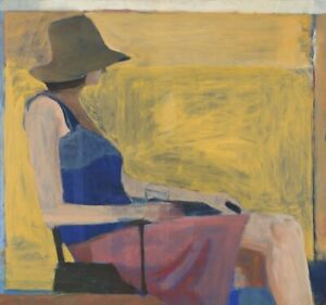 Seated Figure with Hat, 1967 by Richard Diebenkorn Art Print Poster 11x14