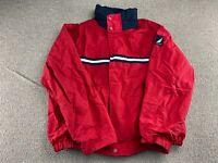 Nautica Sailing Jacket Windbreaker Coat Colorblock L Blue Red White hat