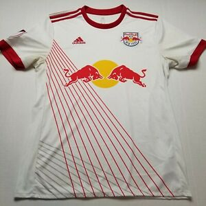 MLS New York Red Bulls Jersey Mens L Adidas Soccer Club Climacool B98
