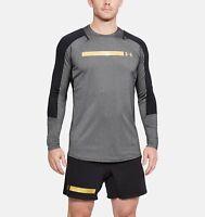 Under Armour Long Sleeve Top Gym Sports Tee T-Shirt UA Size S M L XL XXL Grey