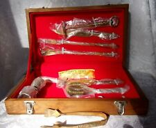 James Jewellers Vintage 9-pc. Bar Tool Set, Bangkok, Thailand Brass Complete NIB