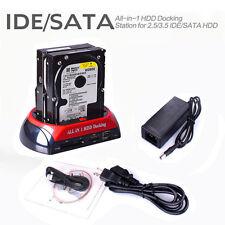 "2,5 ""3,5"" IDE SATA alle Festplatten-Festplatten-Clone Dual HDD Docking Station"