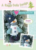 FROSTY SNOWMAN - Sewing Craft A5 Creative Card PATTERN - Christmas Decoration