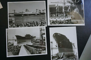 Fotos Schiff Gedera Stapellauf in Bremen Israel ca 1955  13 x 18 cm