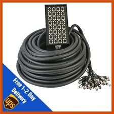 32 Way 24/8 XLR Multicore Stagebox Snake, 30m Cable Loom 24 Sends 8 Returns