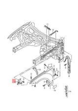 AUDI A7 Sportback Rs7 Brace Left 4G8821135D NEW