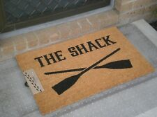 The Shack with Crossed Paddles - Natural Coir on PVC Backing Door Mat