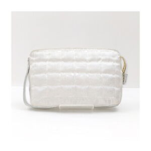 Chanel Accessories Pouch Bag no issue to use Silver Nylon 2401900