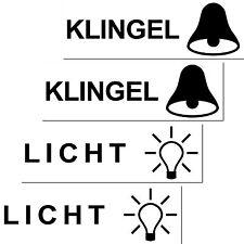 2 Sets Licht Klingen Aufkleber Sticker Briefkasten Klingel Schalter Haustür etc