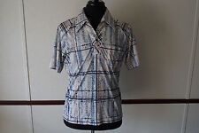 Vintage 70s Mervyns Mens Collection L Short Sleeve Polyester Shirt Made in USA