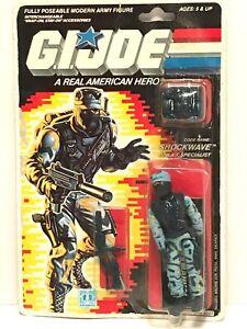 GI Joe SHOCKWAVE 1987 MOC MOSC Hasbro Vintage New Factory Sealed Action Figure