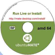 Ubuntu MATE 16.04 Live or Install Linux Operating System AMD 64 bit +LibreOffice