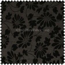 Tessuti e stoffe grigi modello Floreale per hobby creativi ciniglia
