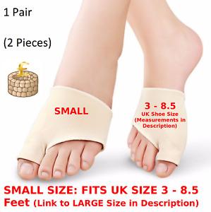 SMALL Bunion Toe Protector Corrector Gel Straightener Valgus Hallux Support Fabr