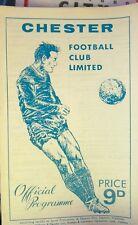Programma CALCIO Chester VS Chesterfield 21 SETTEMBRE 1968