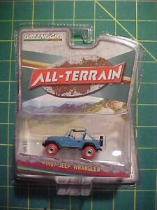 1/64 1987 JEEP WRANGLER RED TIRES GREEN MACHINE CHASE! ALL TERAIN SERIES! NISP