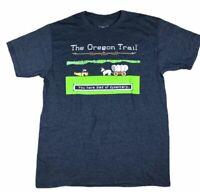 Oregon Trail Game Dysentery Adult Men's Black T-Shirt Ripple Junction Size M EUC