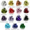 50pcs 3x3~10x10mm White cz stone AAAAA Heart loose Cubic Zirconia 4 Colors