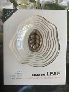 NIB Bellabeat Leaf Smart Jewelry Health Fitness Tracker Silver American Wood