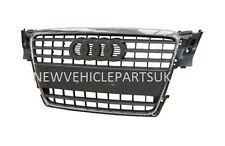 AUDI A4 B8 2008-2012 FRONT GRILLE BLACK WITH CHROME FRAME NEW INSURANCE APPROVED