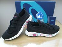 ASICS Hyper GEL-SAI SLIM-FIT BLACK PINK GLO  TRAINERS SHOES SIZE UK 8.5 EUR 42.5