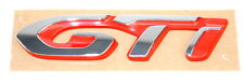 New Peugeot 308 Rear Tailgate Boot GTI Badge Chrome & Red New Genuine 98131455VD