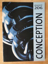 PEUGEOT 206 RANGE orig 1998 1999 UK Mkt Prestige Sales Brochure
