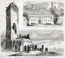SAN SALVATORE MONFERRATO: Torre. ARQUATA SCRIVIA: Municipio. Risorgimento. 1859
